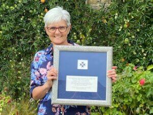 Dame Eileen in her garden